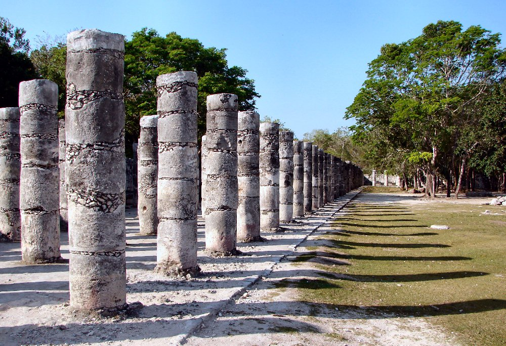 Chichen Itza Temple Of A Thousand Warriors