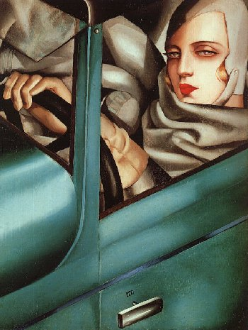 TamaraDeLempicka-Self-Portrait-in-Green-Bugatti-1925