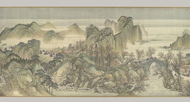Asian art china scrolls ancient