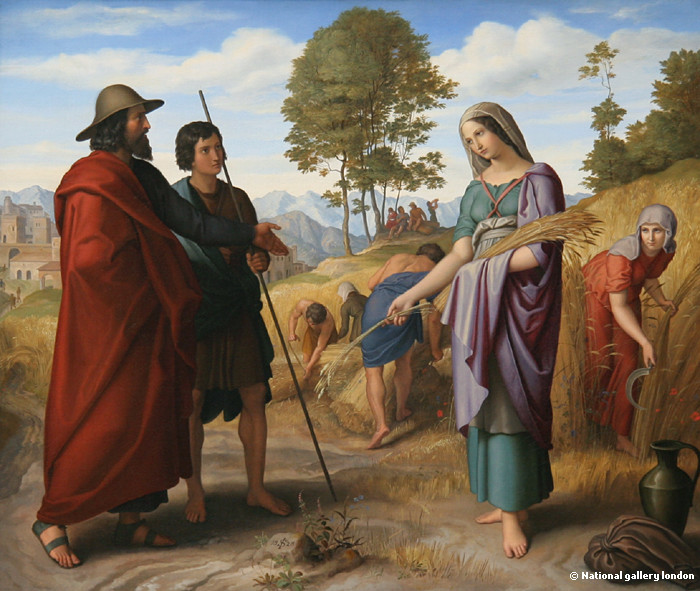 of the two paintings below, which depict the meeting of Boaz and Ruth.
