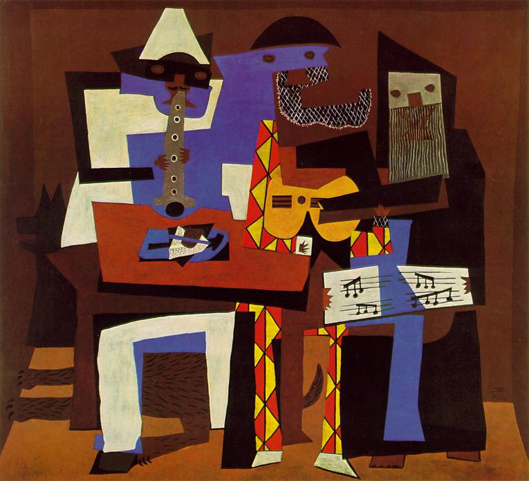 Picasso's painting, Three Musicians