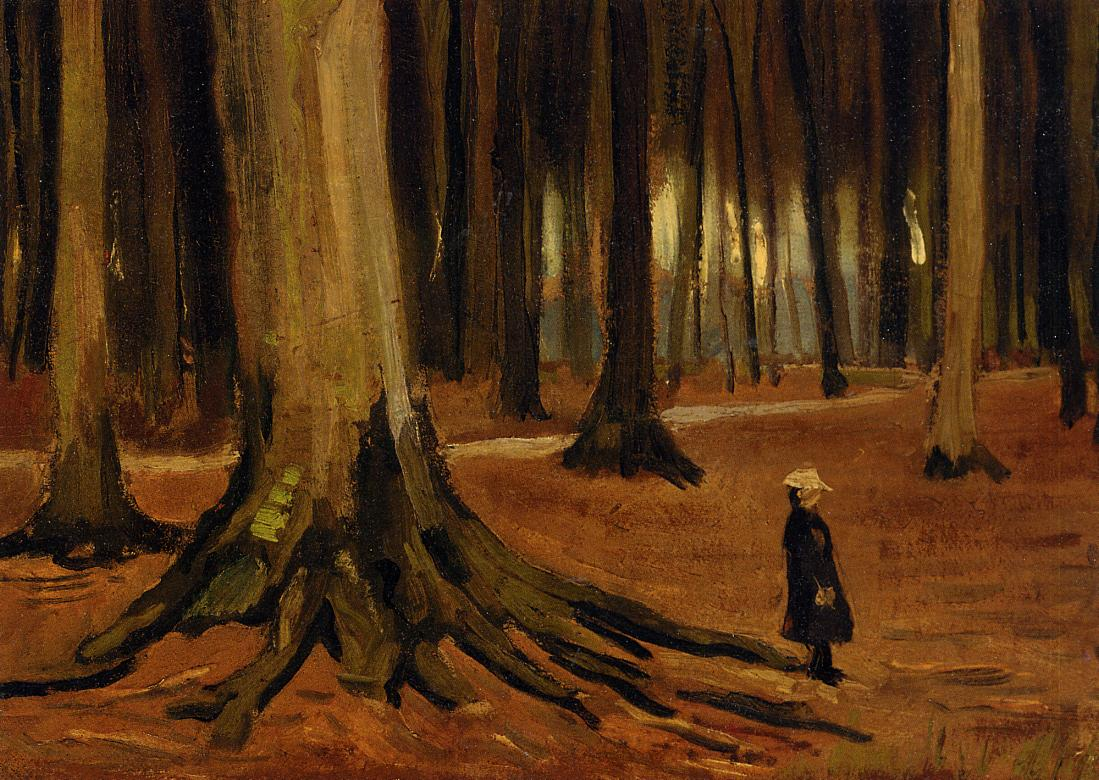 Girl in the woods 1882
