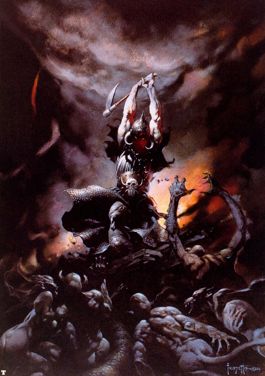 METAL ART (DIBUJANDO HEAVY METAL) FrankFrazetta-The-Death-Dealer-II-1986