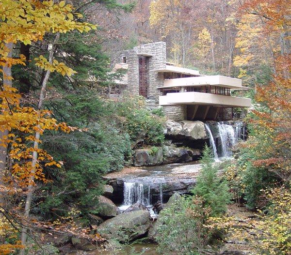 Frank Lloyd Wright's iconic Kaufmann residence (aka Fallingwater)