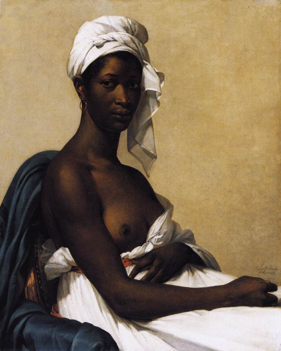 painting of black women naked