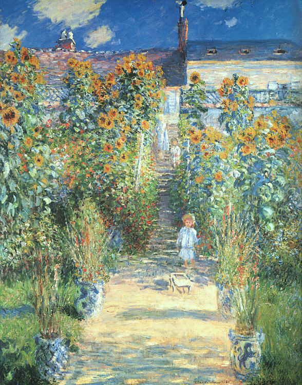 an analysis of the life of claude monet and his painting woman with a parasol Monet loved to paint his wife, when they lived in argenteuil the woman gave birth to two sons of the painter her already fragile health has weakened the birth of a second child soon after birth the woman died.