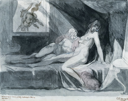 Henry Fuseli's An Incubus Leaving Two Sleeping Women - 1810