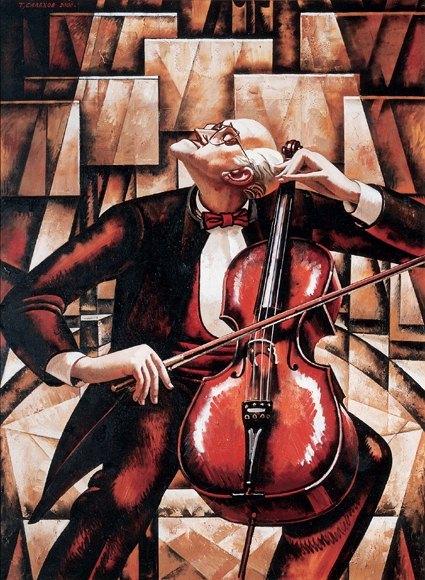 Tahir Salahov. Rastropovich. 2000