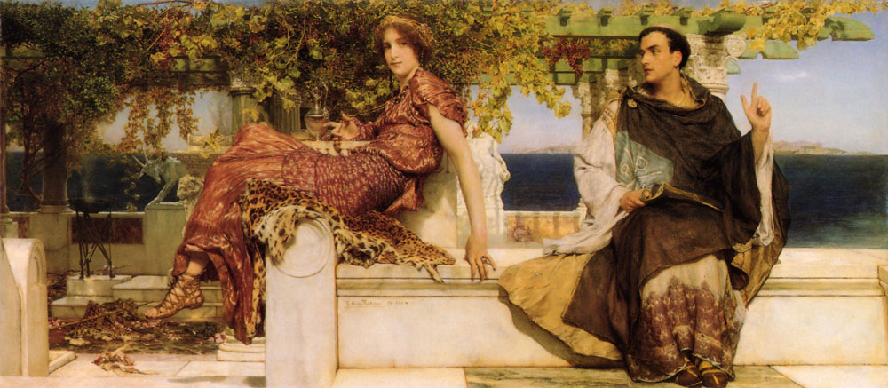 Lawrence Alma-Tadema - Page 2 LawrenceAlmaTadema-The-Conversion-Of-Paula-By-Saint-Jerome-1898