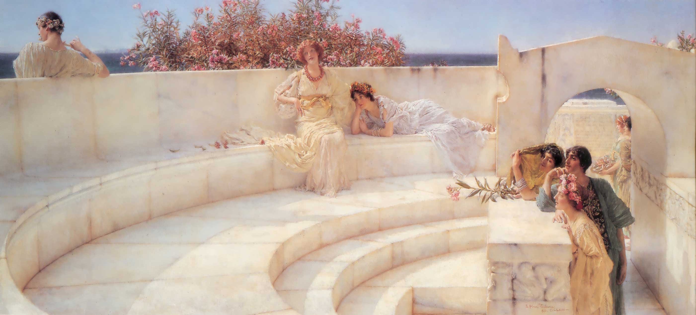 Lawrence Alma-Tadema - Page 2 LawrenceAlmaTadema-Under-the-Roof-of-Blue-Ionian-Weather-1903